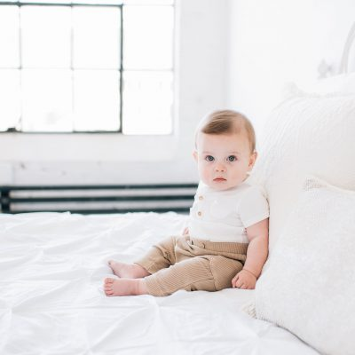 Handsome 6-month-old​ baby in the Seattle Studio!