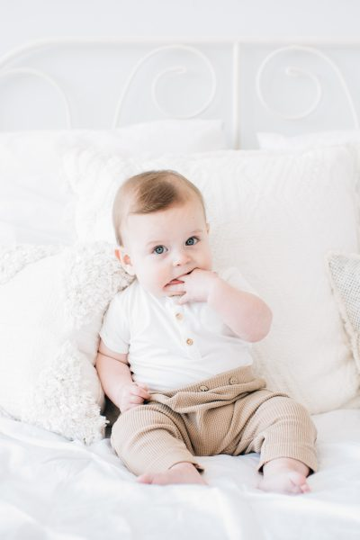 Cutest 6-month-old baby in the seattle photography studio