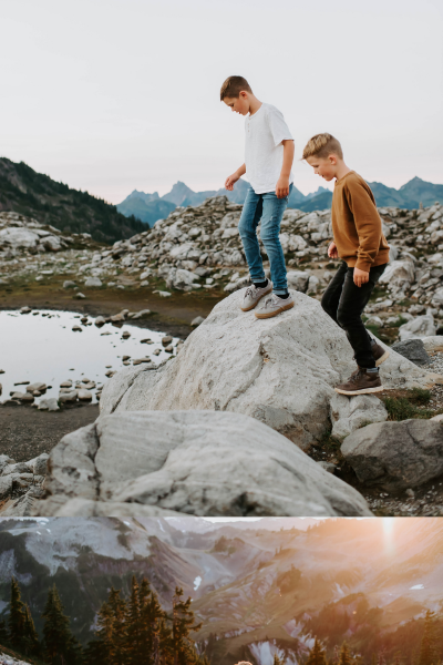 Family Session in the North Cascades